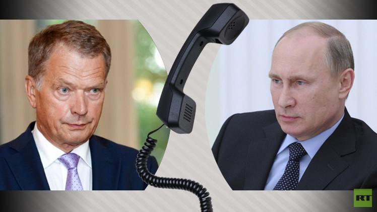 الرئيسان الروسي و الفنلندي يبحثان مكافحة داعش والتسوية الأوكرانية