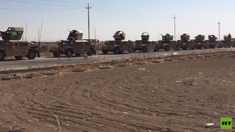 القوات العراقية والحشد الشعبي يقصفان معاقل