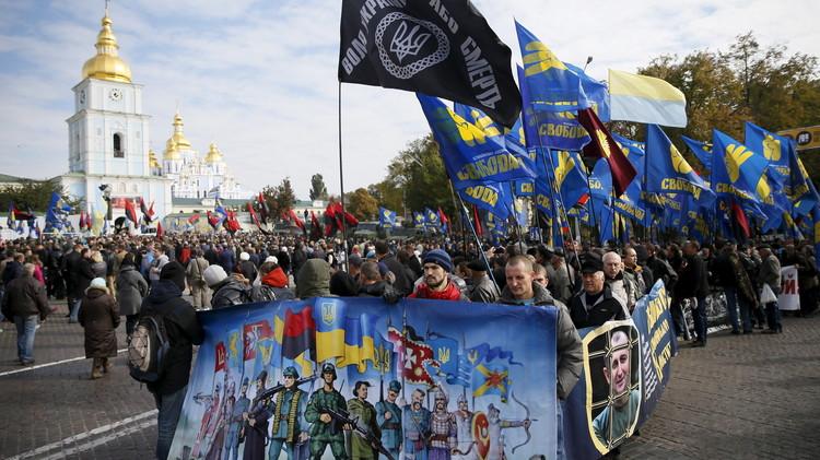 تفجير يستهدف مسيرة للقوميين المتشددين في كييف