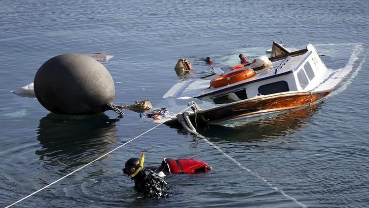 صور صادمة.. 7 قتلى بينهم أطفال في اصطدام سفينة يونانية بزورق مهاجرين