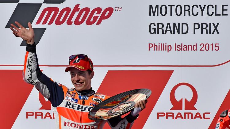 ماركيز يتوج بسباق جائزة أستراليا الكبرى للموتو جي بي