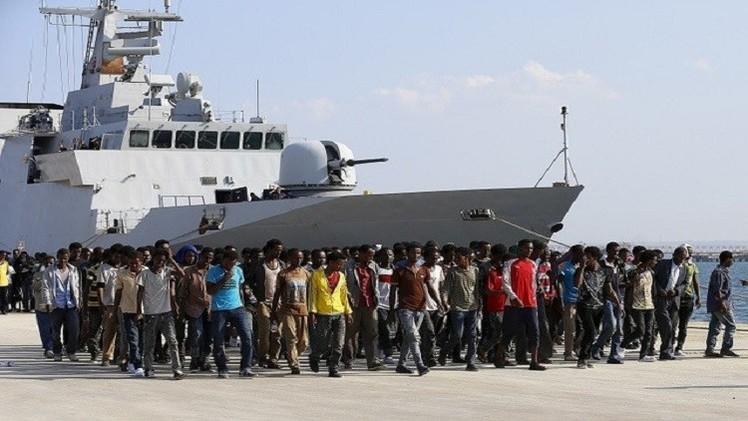 البحرية الإيطالية: مقتل 8 مهاجرين وانقاذ  113 آخرين عند محاولتهم عبور المتوسط