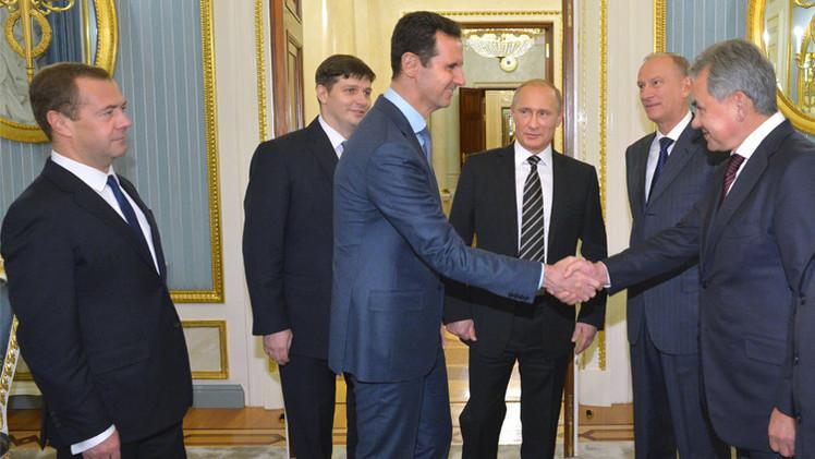مدفيديف: الأسد بدا هادئا ومتزنا كما كان عليه قبل 5 سنوات