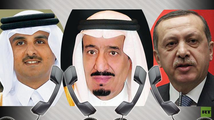 زعماء تركيا والسعودية وقطر يبحثون الأزمة السورية