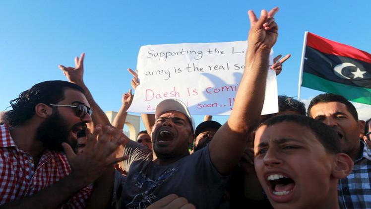 ليبيا.. مقتل 9 أشخاص بسقوط قذائف على متظاهرين وسط بنغازي
