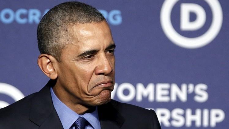 أوباما بمظهر قط غاضب