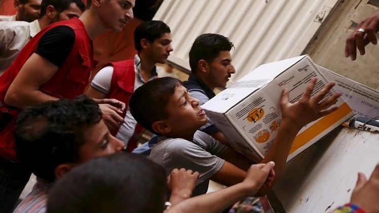 الأمم المتحدة وزعت بسكويتا منتهي الصلاحية على أطفال سوريا