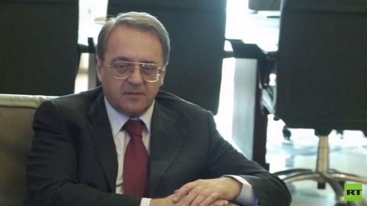 بوغدانوف: أقمنا اتصالات في موسكو مع ممثلين عن