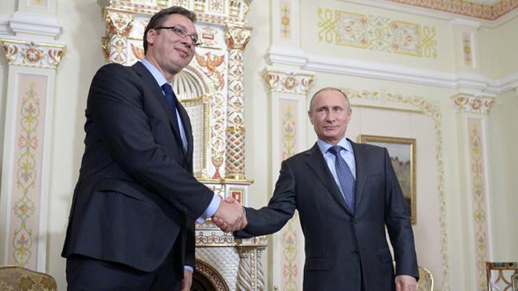 بوتين: التبادل التجاري بين روسيا وصربيا ينمو بالرغم من الصعوبات الاقتصادية
