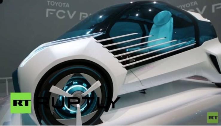 بالفيديو من اليابان.. تويوتا تكشف النقاب عن سيارة بمفهوم خلايا الوقود FCV Plus