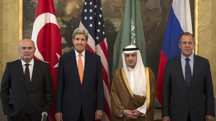 انطلاق اللقاء الرباعي بين روسيا والولايات المتحدة وتركيا والسعودية حول سوريا في فيينا