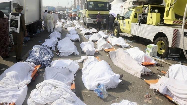 قتلى حاثة التدافع بمشر منى في الـ24 من أيلول/سبتمبر 2015