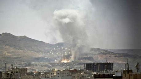 التحالف العربي يشن 12 غارة جوية على أهداف الحوثيين بصنعاء