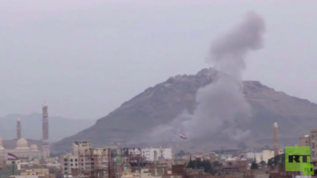 غارات للتحالف على صنعاء وصعدة وتعز