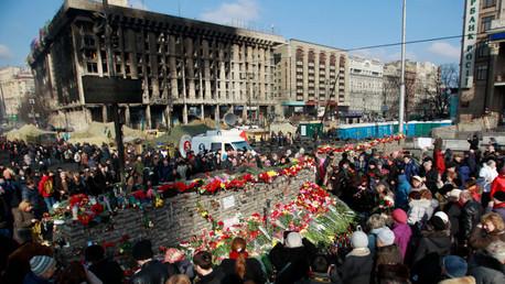وسط كييف في فبراير/شباط عام 2014