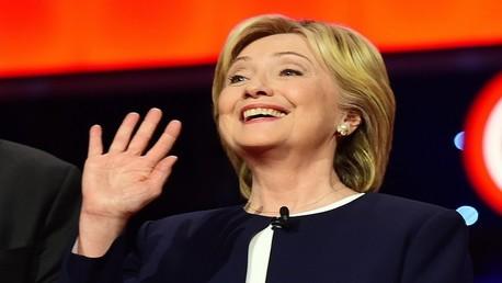 هيلاري كلينتون المرشحة الرئاسية الأمريكية عن الحزب الديمقراطي