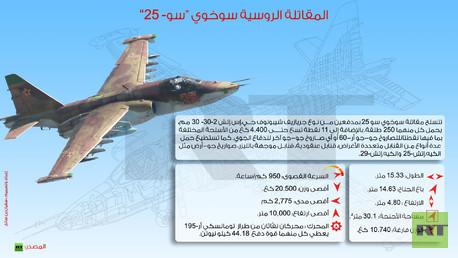 """إنفوجرافيك: المقاتلة الروسية سوخوي """"سو- 25"""""""