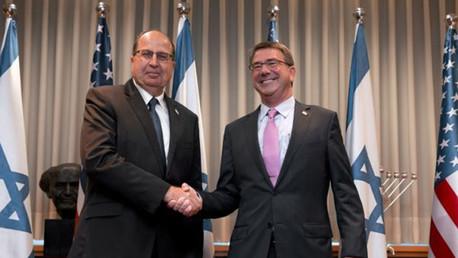 وزير الدفاع الأميركي اشتون كارتر ونظيره الإسرائيلي موشيه يعلون