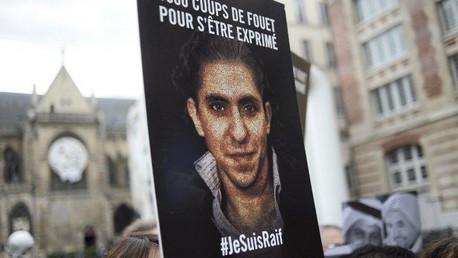 إحدى التظاهرات المناهضة للحكم بحق بدوي ترفع صورته