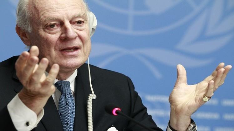 دي ميستورا يدعو إلى وقف جديد لإطلاق النار بسوريا