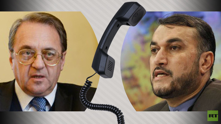 بوغدانوف وعبد اللهيان يبحثان هاتفيا أزمتي سوريا واليمن