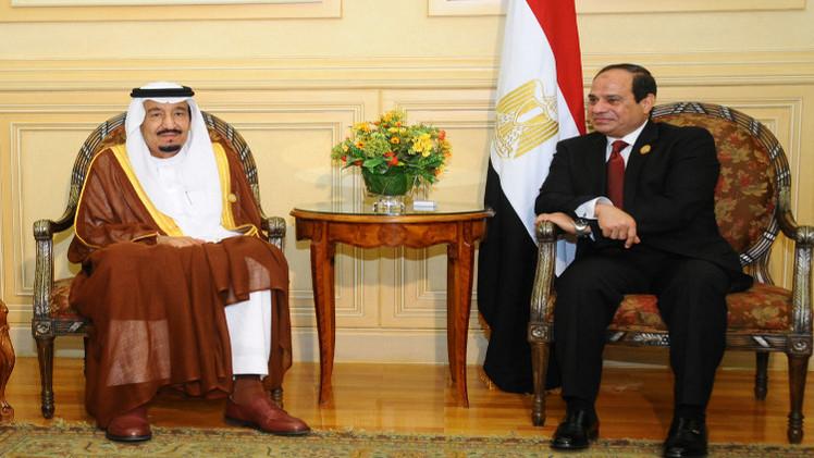 الملك السعودي والرئيس المصري