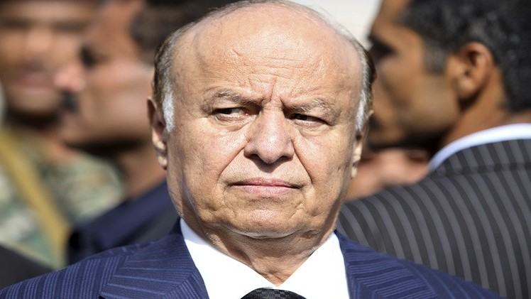 وصول الرئيس اليمني عبد ربه منصور هادي  إلى عدن