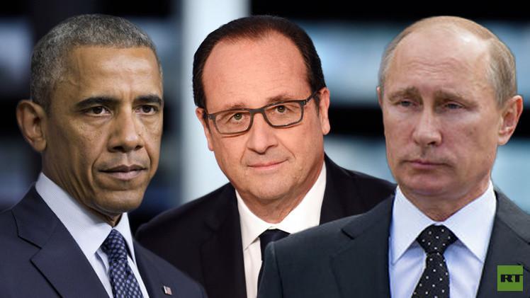 باريس تعبئ موسكو وواشنطن لحرب شاملة ضد المتطرفين