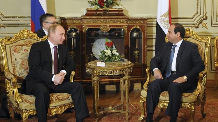 بوتين والسيسي يدعوان لإجراءات دولية أكثر حسما في مواجهة الإرهاب