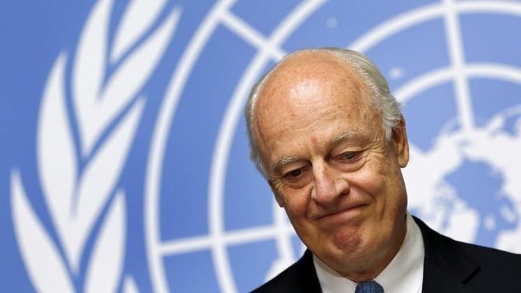 دي ميستورا: من المهم تشكيل وفد موحد وشامل للمعارضة السورية