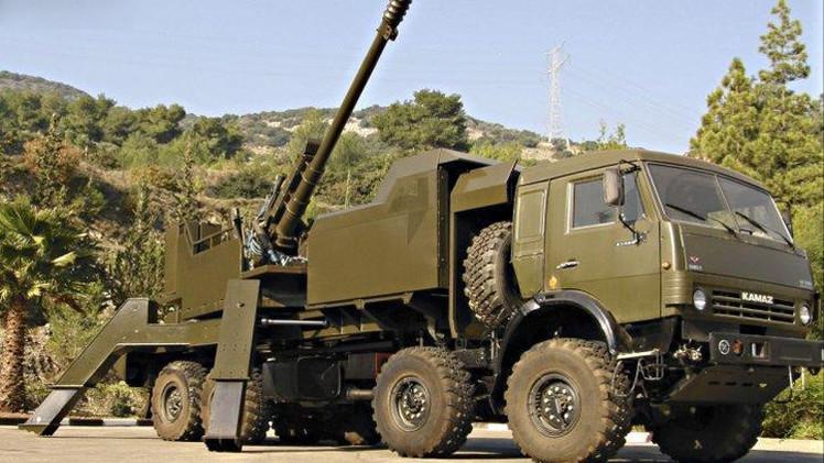 تصميم نموذج تجريبي لمدفع هوتزر روسي حديث ينصب على منصة مدولبة