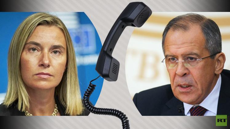 لافروف وموغيريني يبحثان هاتفيا الأزمة السورية ومكافحة