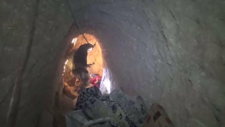 نفق معقد تحت الأرض لتنظيم داعش في سنجار العراقية (فيديو)