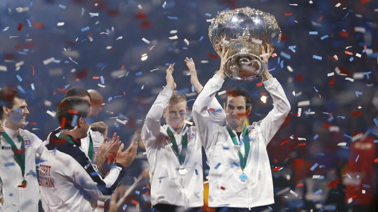 بريطانيا تتوج بلقب كأس ديفيز بعد 79 عاما (صور)