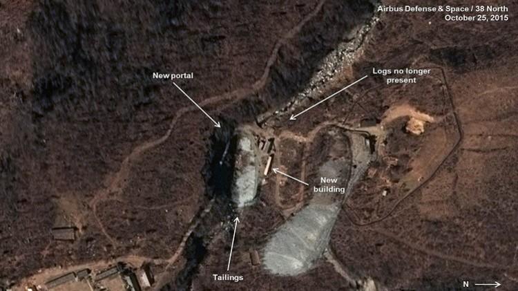 أقمار صناعية ترصد حفر كوريا الشمالية نفقا للتجارب النووية