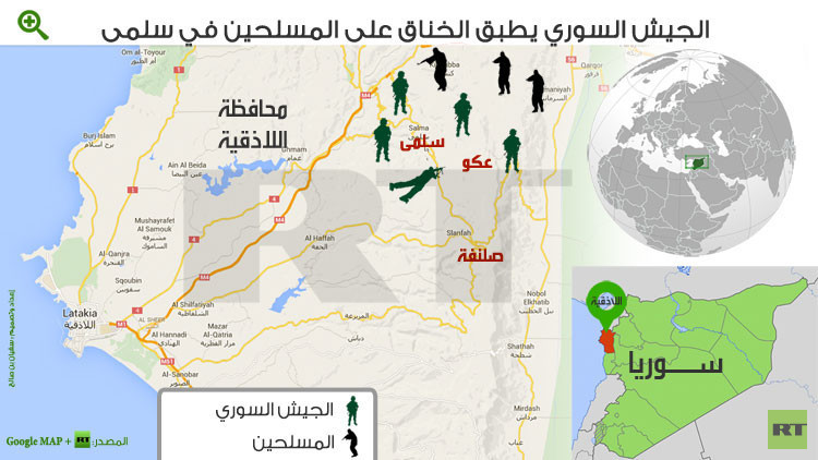 ريف اللاذقية.. الجيش يدخل سلمى في الكماشة بسيطرته على عكو