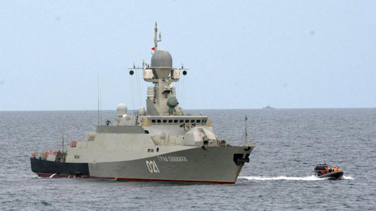سفن حربية روسية تتدرب على التصدي لأسلحة الدمار الشامل