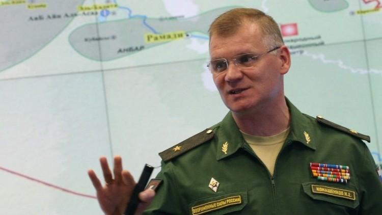 الدفاع الروسية تنفي استهداف طائراتها معسكرا للجيش السوري في دير الزور