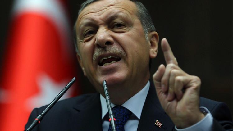اردوغان يتعدى على الجزء
