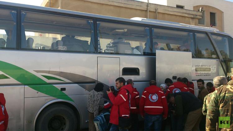بدء تنفيذ اتفاق حي الوعر في حمص