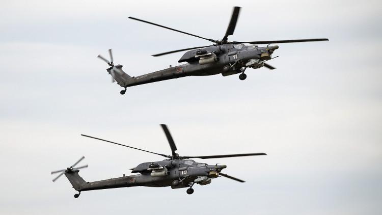 العراق يتسلم مروحيتين عسكريتين روسيتين