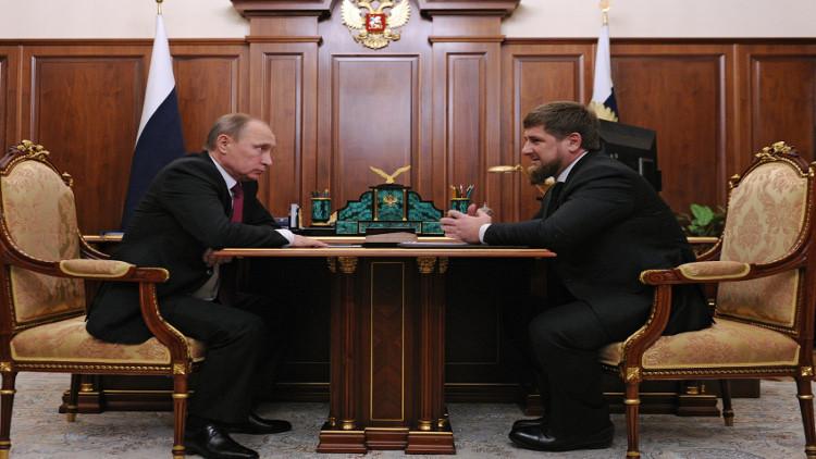 بوتين يشكر قادروف على إعادة إعمار العاصمة الشيشانية
