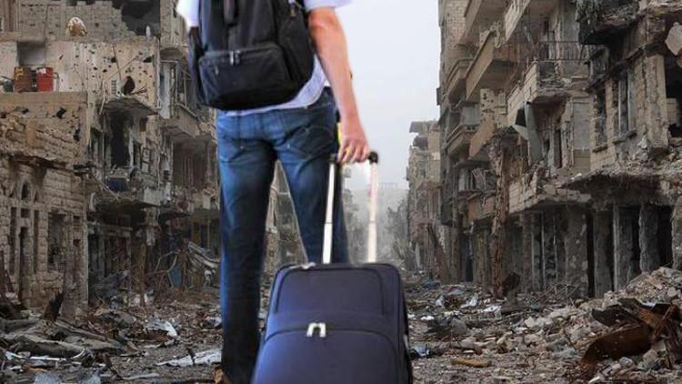 السياح الروس في رحلات إلى خط الجبهة في سوريا عام 2016!!