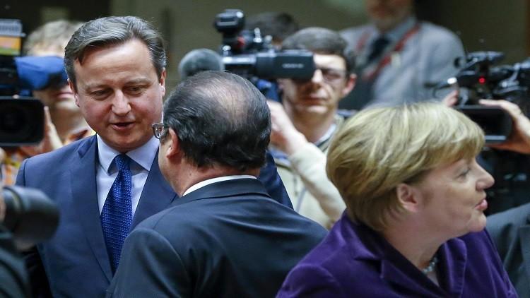 هولاند لكاميرون: يجب احترام مبادئ الاتحاد الأوروبي