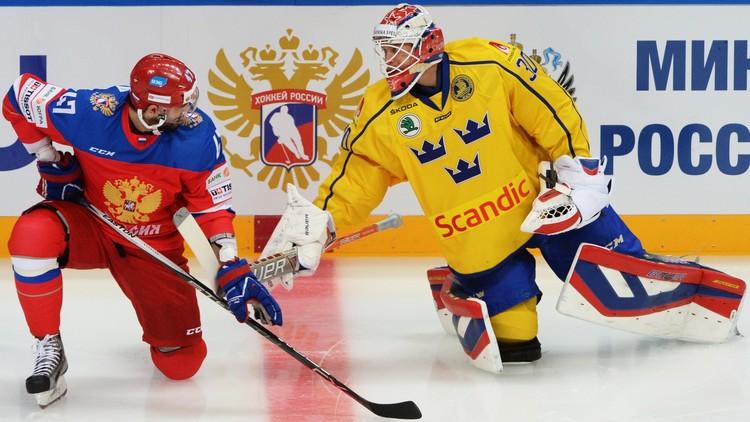 روسيا تخسر أمام السويد بهوكي الجليد
