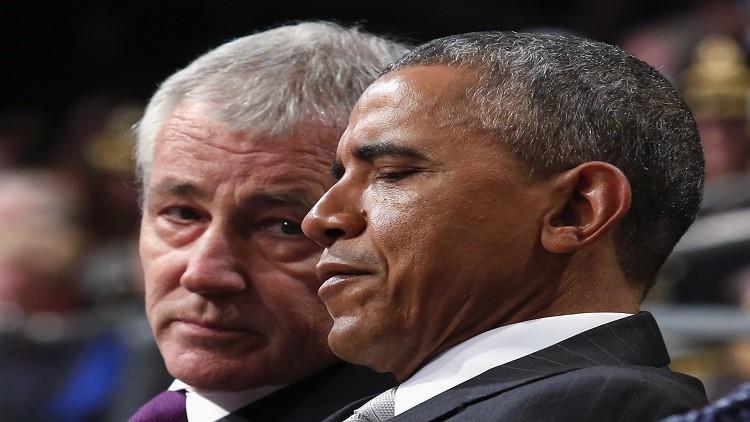 هيغل يفتح النار على سياسة أوباما في سوريا