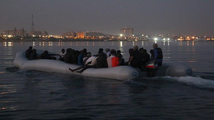 إنقاذ أكثر من 100 مهاجر غير شرعي عند السواحل الليبية