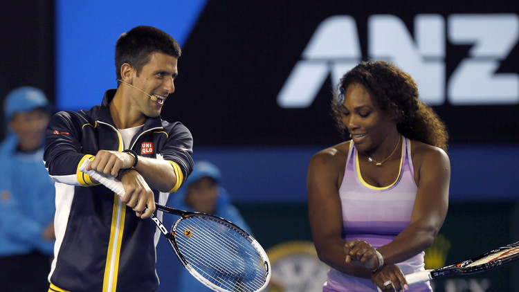 دجوكوفيتش وسيرينا  الأفضل في عالم التنس لموسم 2015