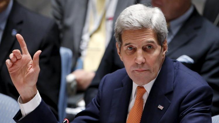 كيري: الأزمة السورية ستبقى  التحدي الرئيسي عام 2016