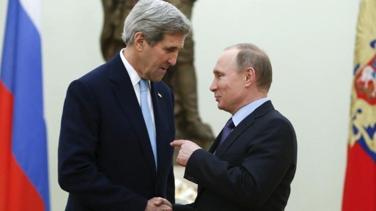 الكرملين: بوتين لم يبحث مع كيري مشاركة الأسد في انتخابات 2017